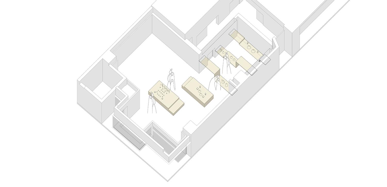 Interior Axonometry Ryuichi Sasaki/Sasaki Architecture + Rieko Okumura/Atelier O}