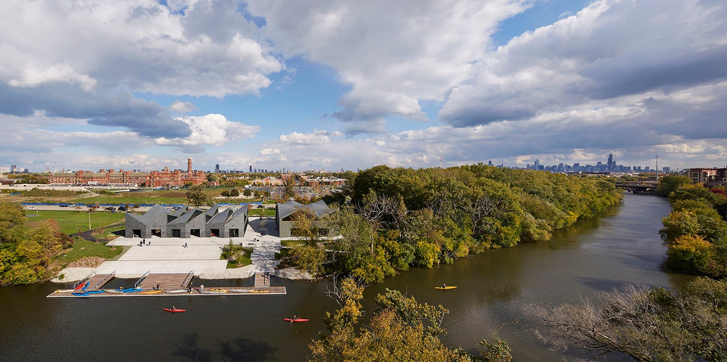 The Chicago River Boathouses offer the public unprecedented access to the river, supporting the larger movement toward the ecological and recreational revival of this important urban waterway.
