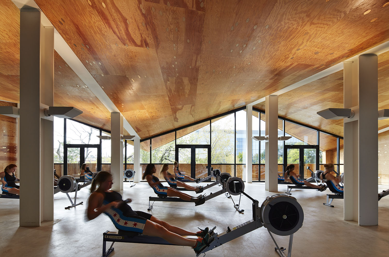 The field houses accommodate year-round training programs for both youth and adult rowing teams, clubs, and organizations, providing space for team practice, fitness, and courses for people with disabiliti