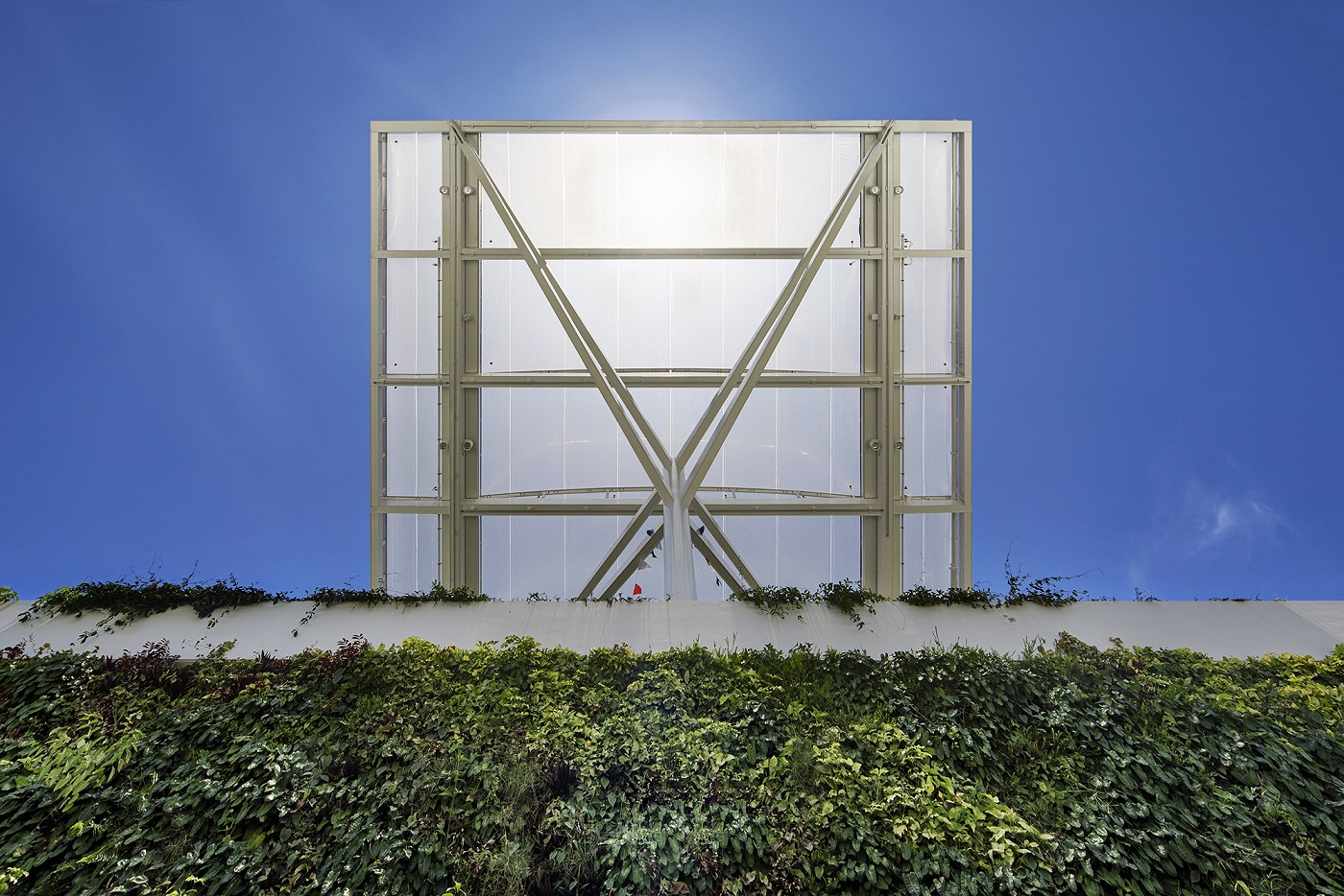 External canopy and green wall Bogle Architects - Infinitude