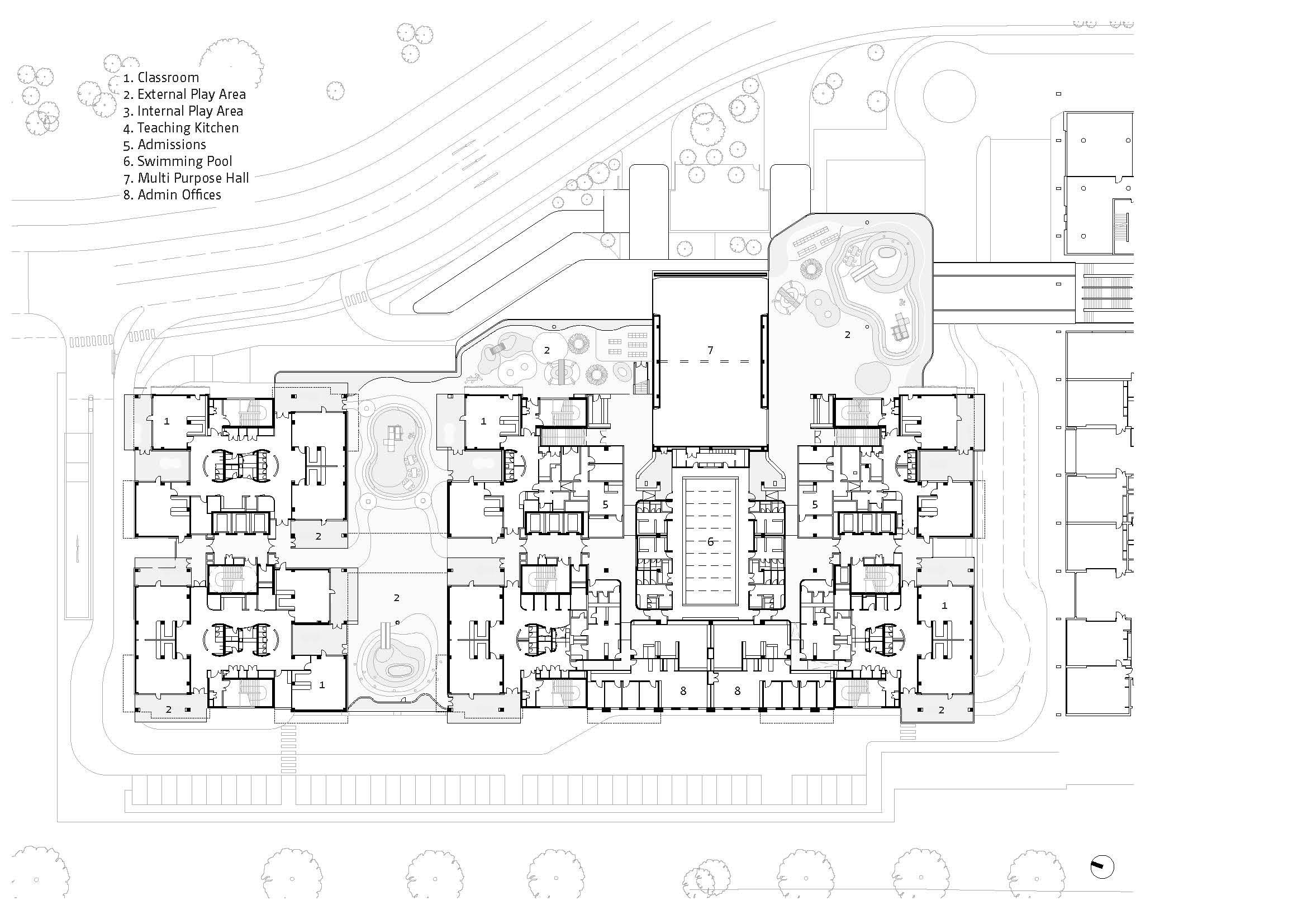 Plan - Level 2 Bogle Architects}