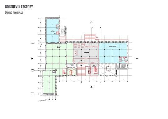 Bolshevik Factory ground floor plan }