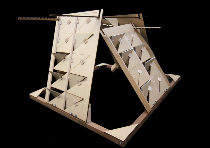 Timber Lantern, Daylight Study Model 2 bucholz mcevoy architects}