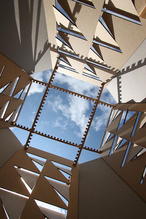 Timber Lantern Daylight Study Model 3 bucholz mcevoy architects}