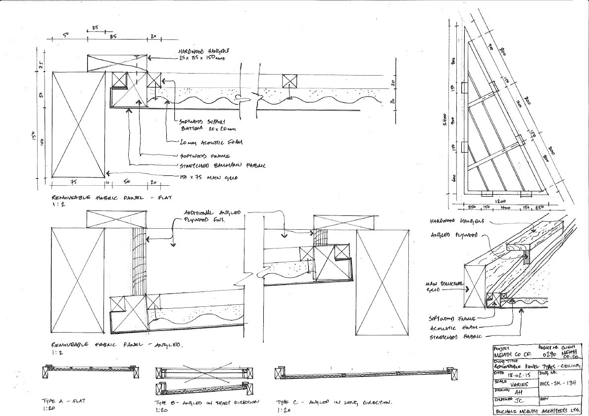 Timber Ceiling Drawing bucholz mcevoy architects}