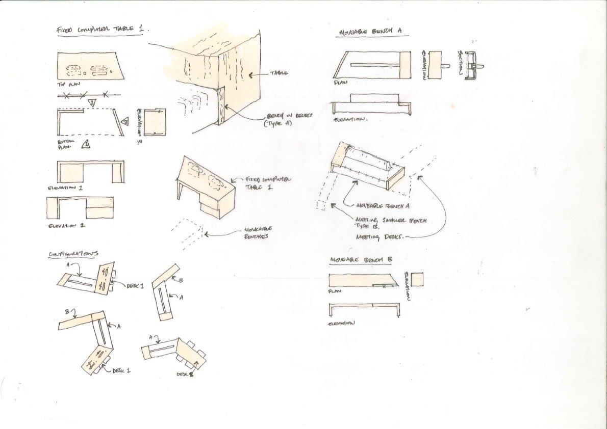 Civic Space Furniture Study 2 bucholz mcevoy architects}