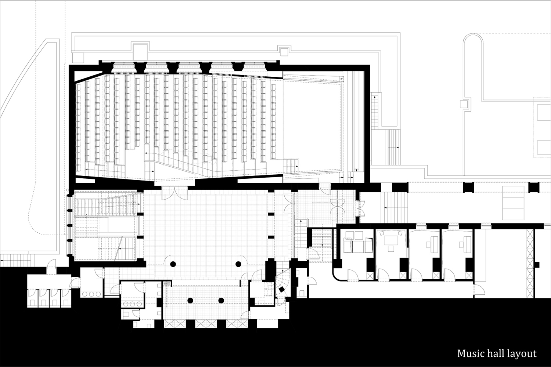 Music Hall layout }