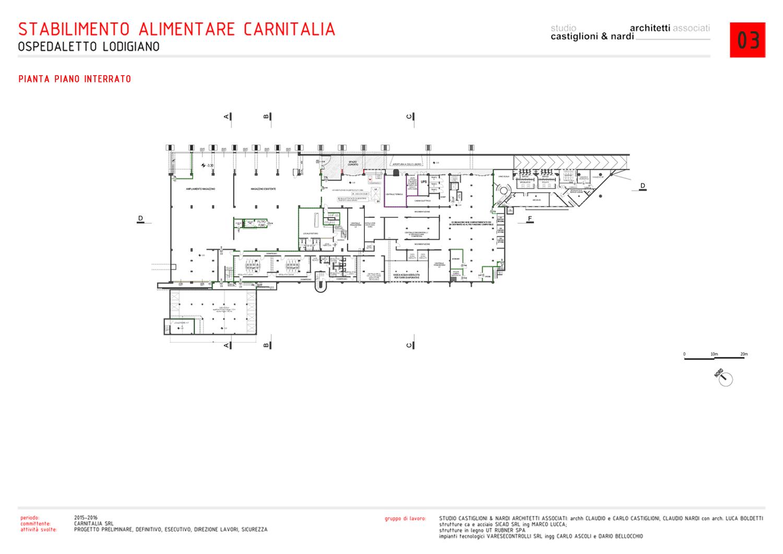 PIANTA PIANO INTERRATO STUDIO CASTIGLIONI & NARDI ARCHITETTI ASSOCIATI}