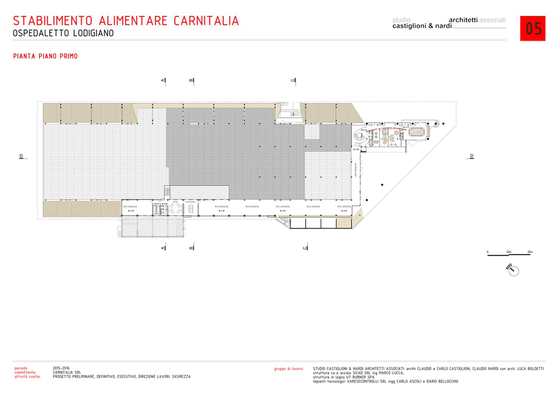 PIANTA PIANO PRIMO STUDIO CASTIGLIONI & NARDI ARCHITETTI ASSOCIATI}