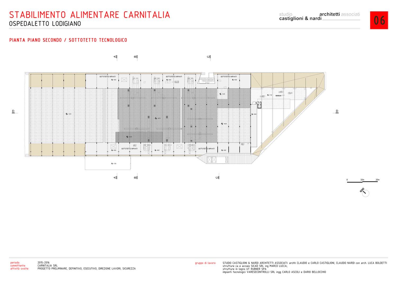 PIANTA PIANO SECONDO: SOTTOTETTO TECNOLOGICO STUDIO CASTIGLIONI & NARDI ARCHITETTI ASSOCIATI}