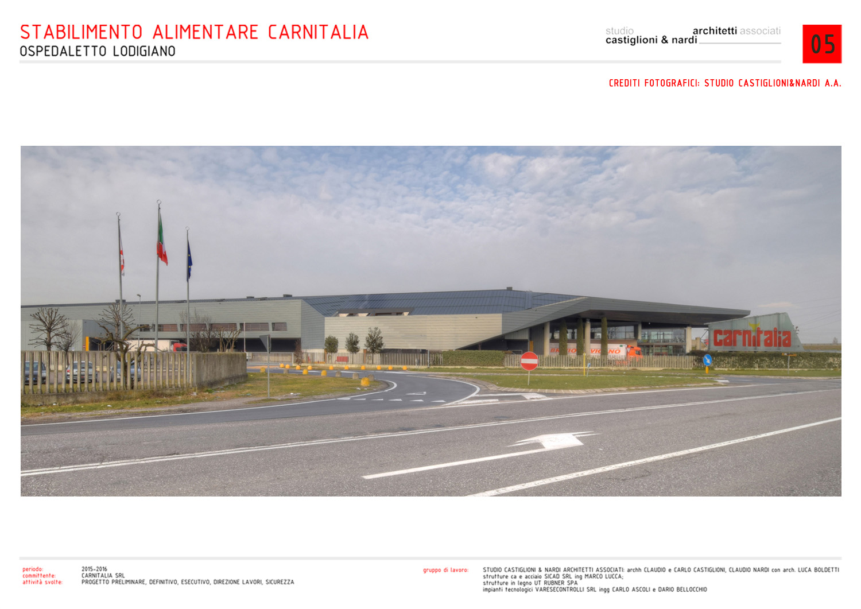 VISTA DELLO STABILIMENTO DALLA SP. MANTOVANA STUDIO CASTIGLIONI & NARDI ARCHITETTI ASSOCIATI
