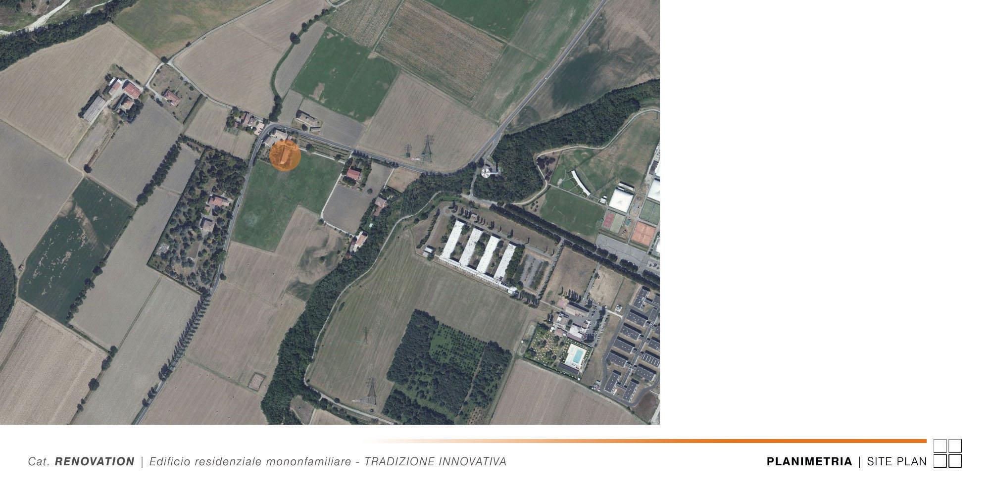 Edificio Residenziale Monofamiliare - TRADIZIONE INNOVATIVA - 001 - Site Plan }