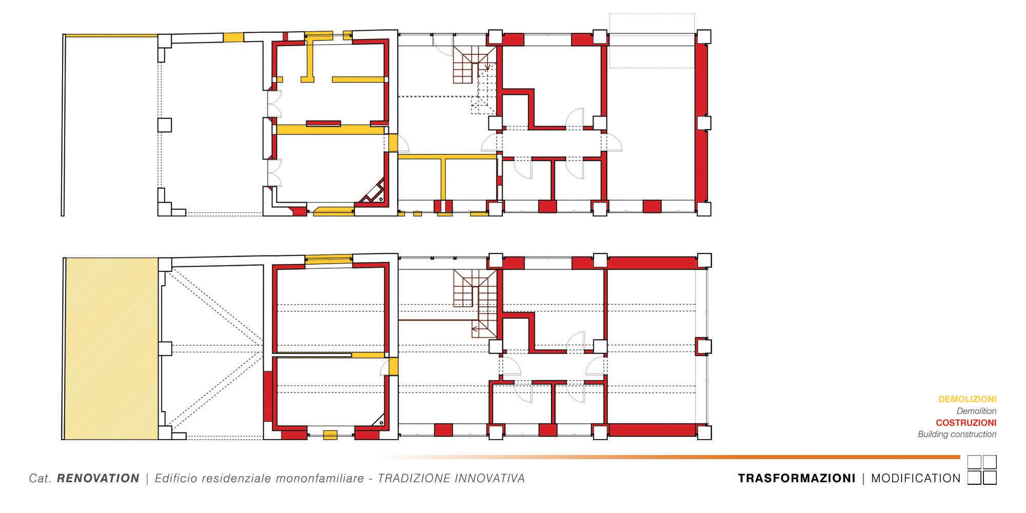 Edificio Residenziale Monofamiliare - TRADIZIONE INNOVATIVA - 004 - PT-P1 Modification }