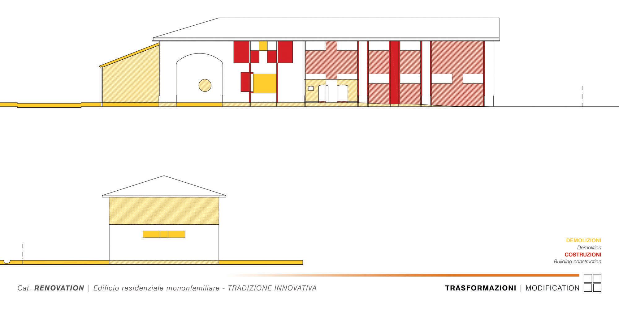 Edificio Residenziale Monofamiliare - TRADIZIONE INNOVATIVA - 011 - W.E.-N.E. Modification }