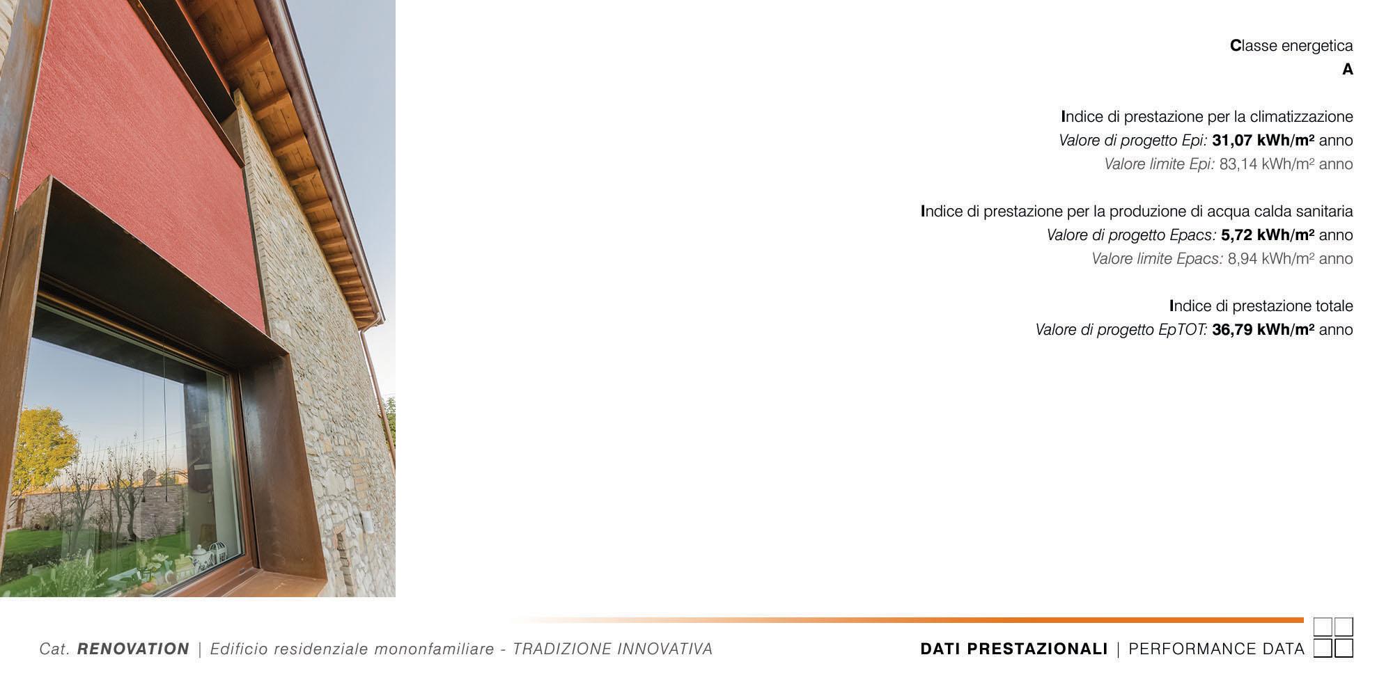 Edificio Residenziale Monofamiliare - TRADIZIONE INNOVATIVA - 013 - Performance Data }