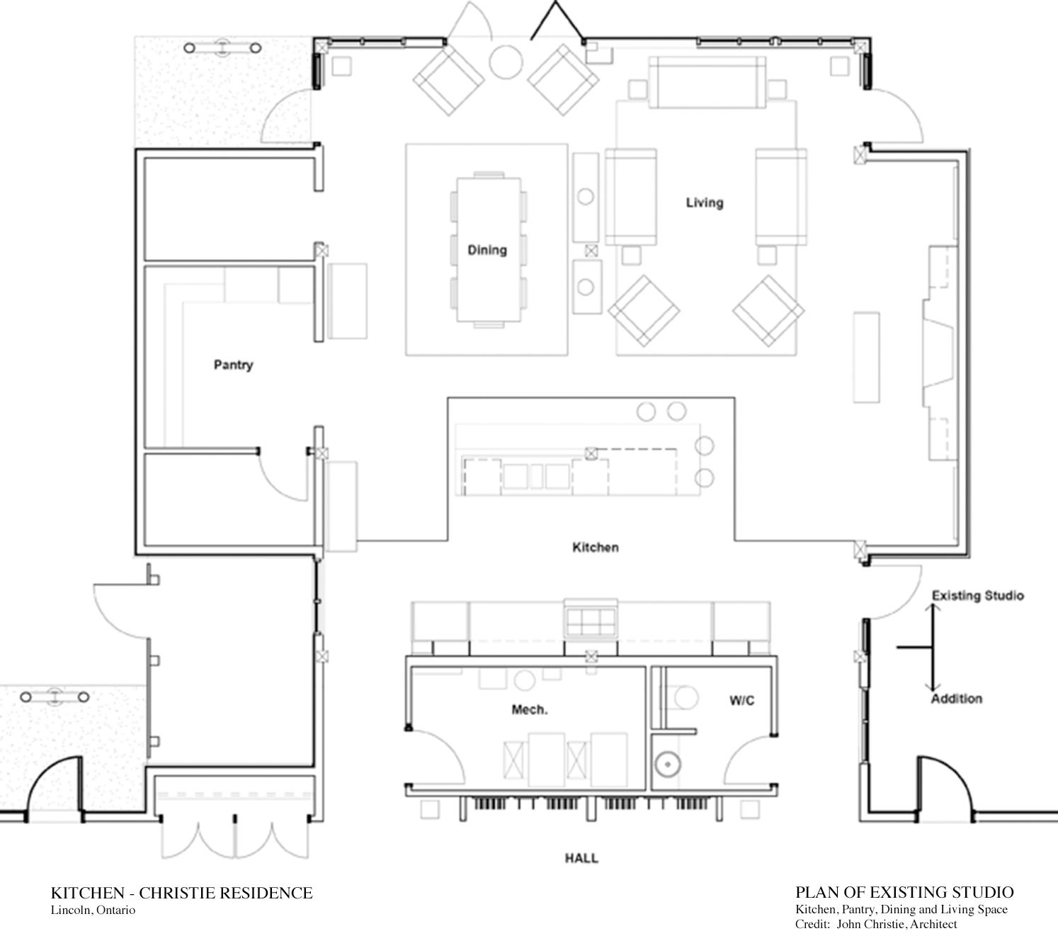Plan of Existing Studio Architect