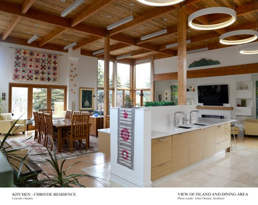 View of Island and Dining area Architect