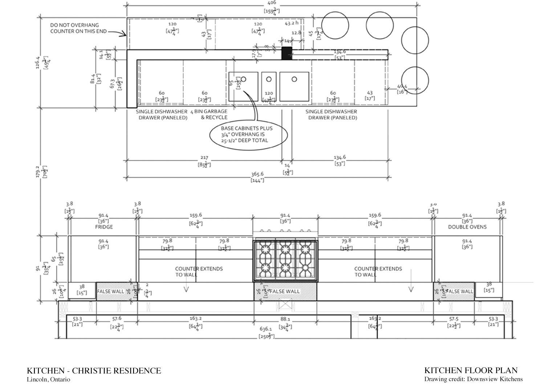 Kitchen Floor Plan Downsview Kitchens