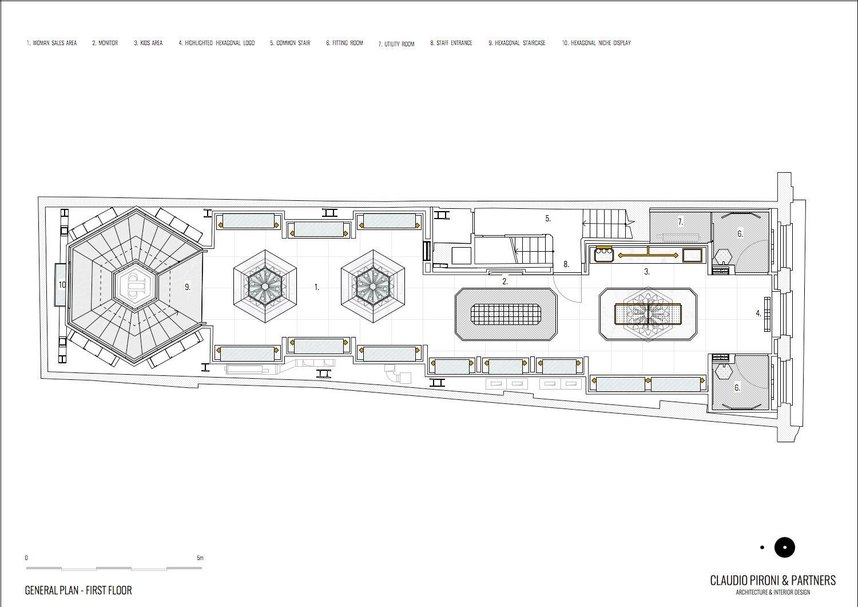 Philipp Plein London: General Plan_First Floor }