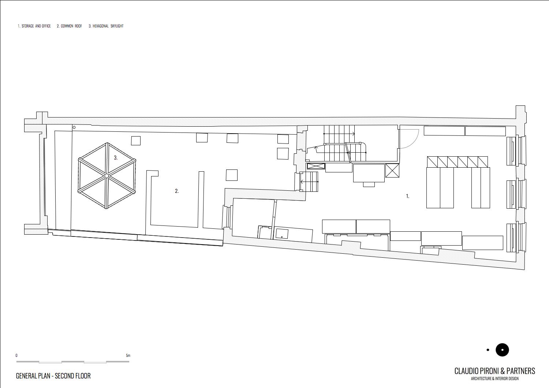 Philipp Plein London: General Plan_Second Floor }