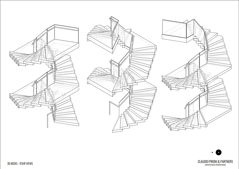 Philipp Plein London: 3D Stair view }