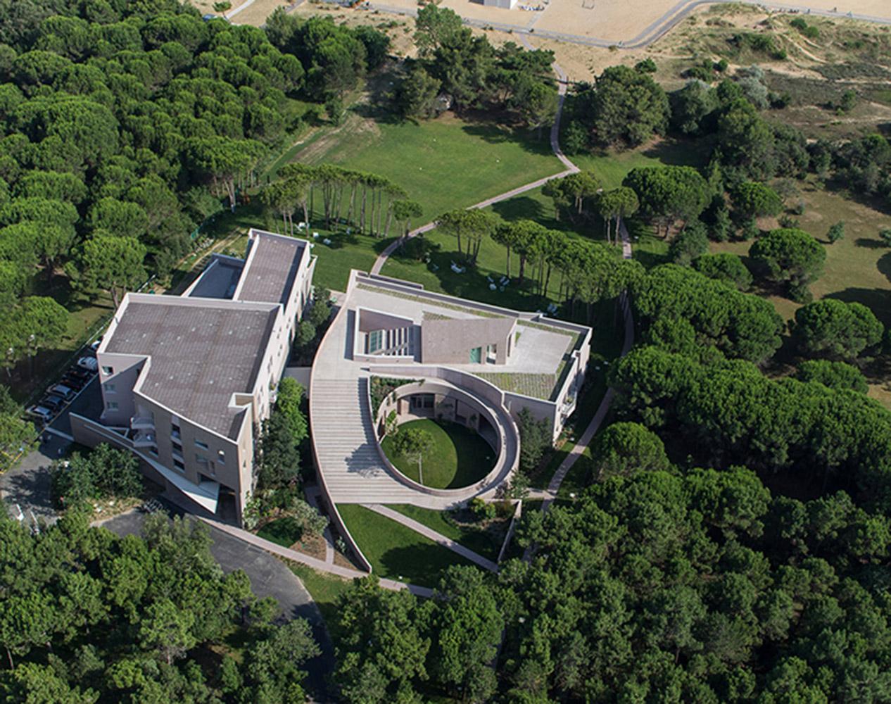 Vista aerea del complesso Stella maris