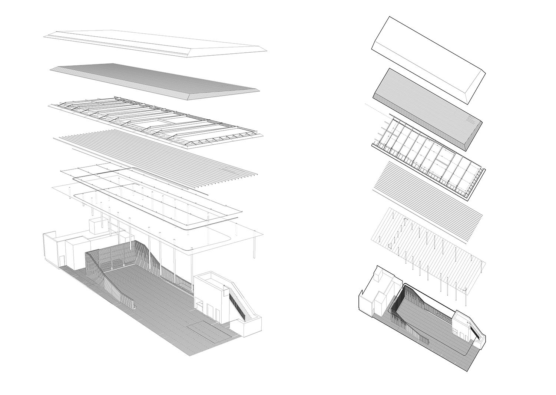 Canopy Axonometric LTL Architects}