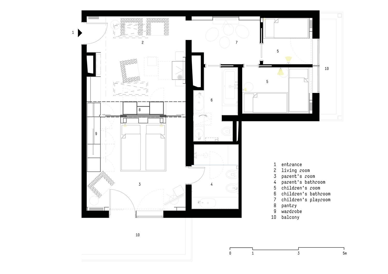 Floor plan Suite }