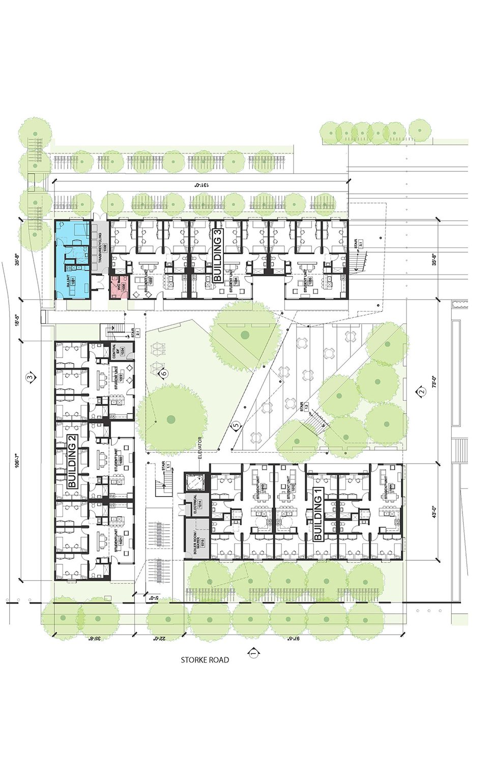 Cluster 1 - Level 1 © Lorcan O'Herlihy Architects [LOHA]}