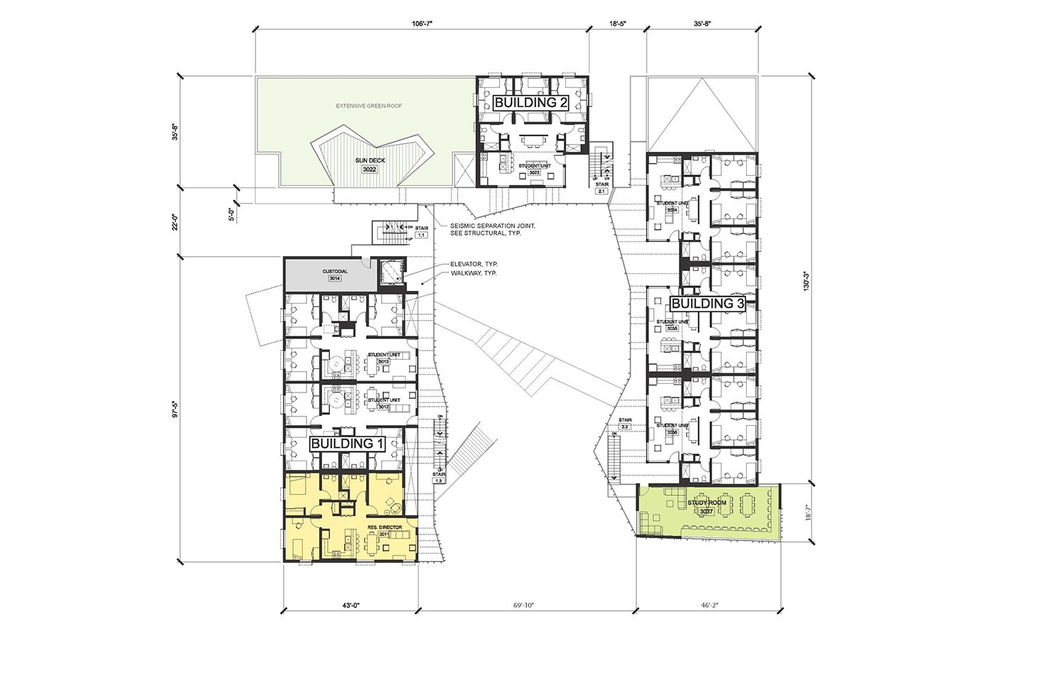 Cluster 1 - Level 3 © Lorcan O'Herlihy Architects [LOHA]}