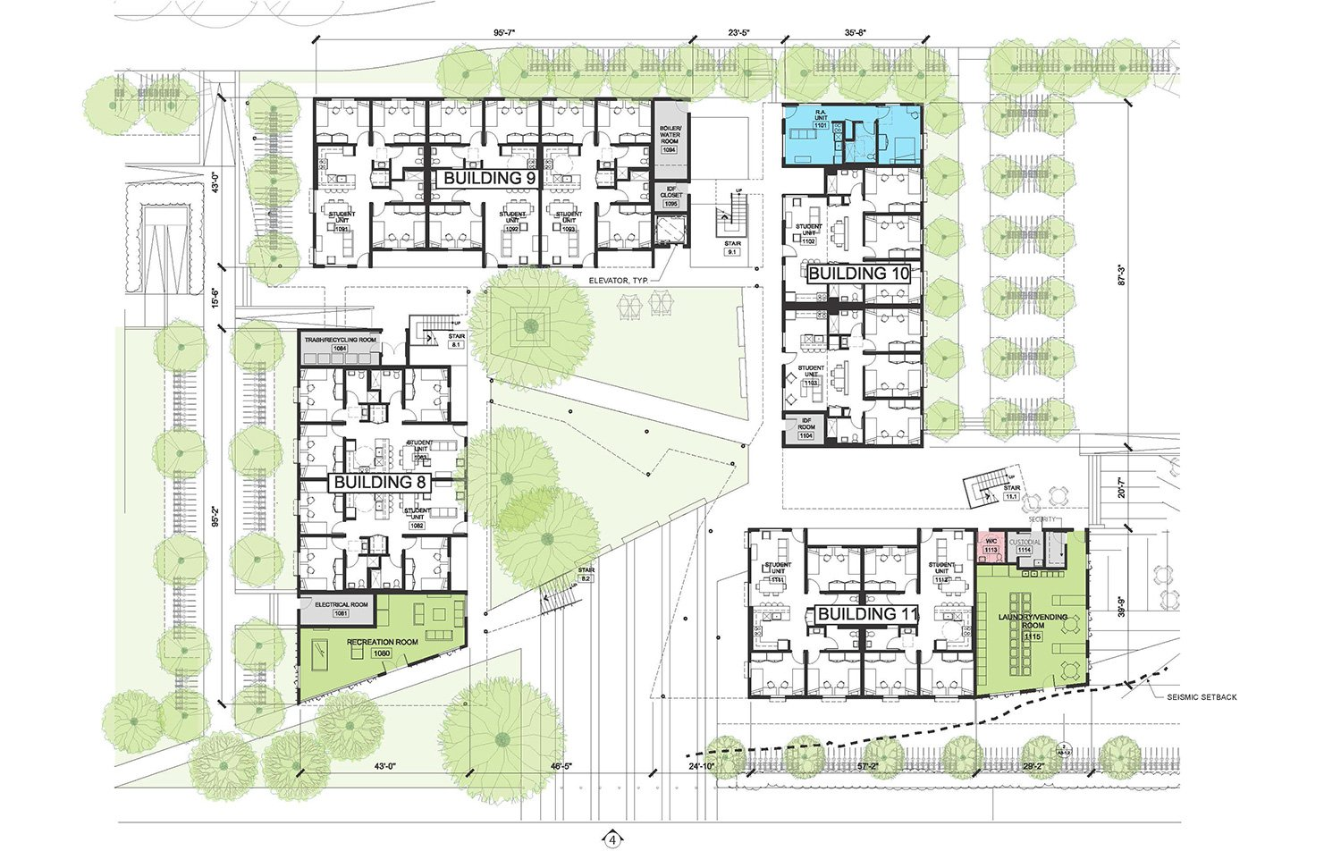 Cluster 3 - Level 1 © Lorcan O'Herlihy Architects [LOHA]}