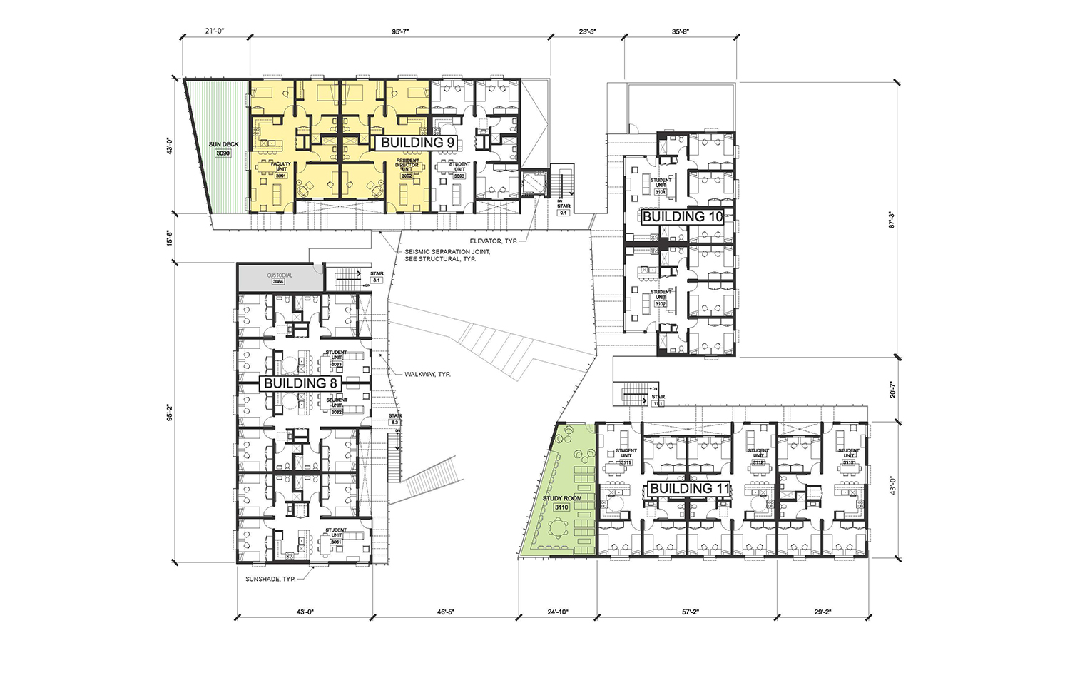 Cluster 3 - Level 3 © Lorcan O'Herlihy Architects [LOHA]}