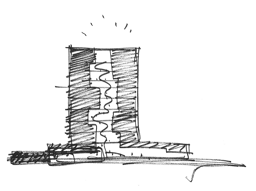 Concept sketch C.F. Møller Architects}
