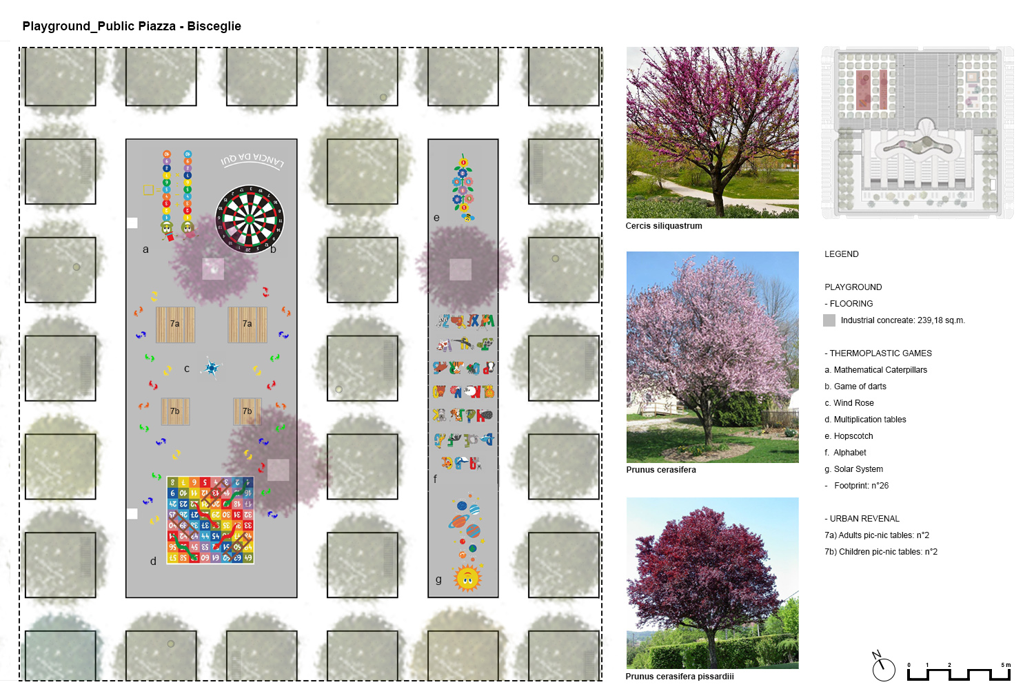 Plan and details of the playground PERALTA - design & consulting}