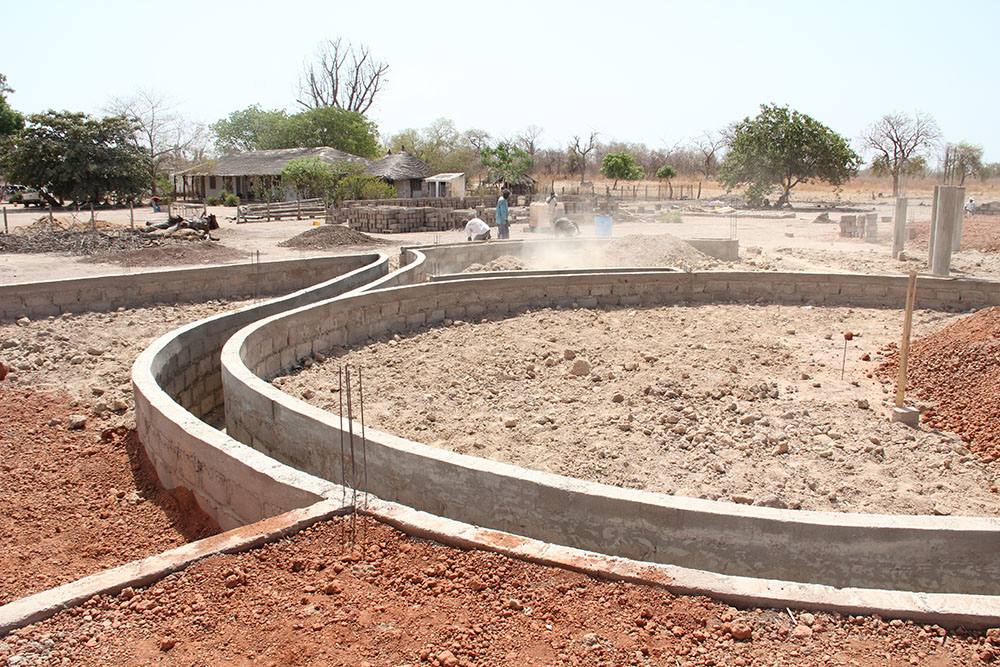 Construction image: water collection system installed  }