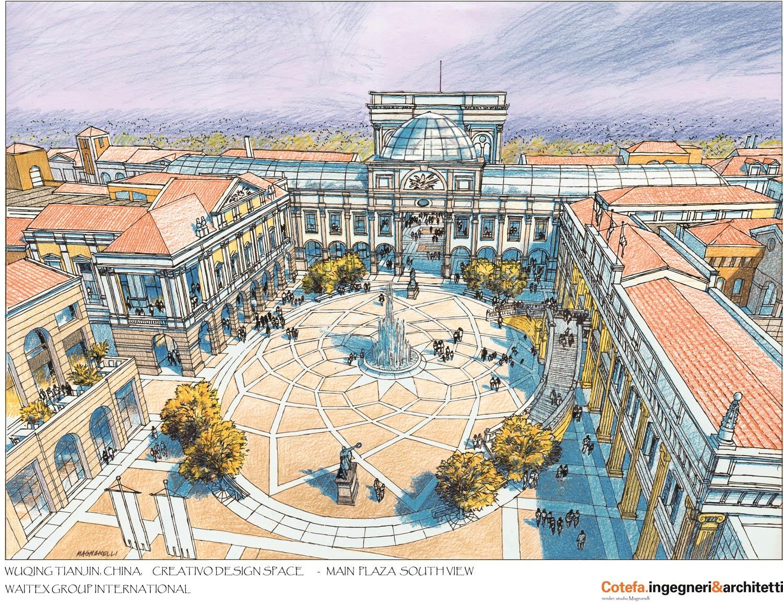 Creativo's Main Plaza south view }