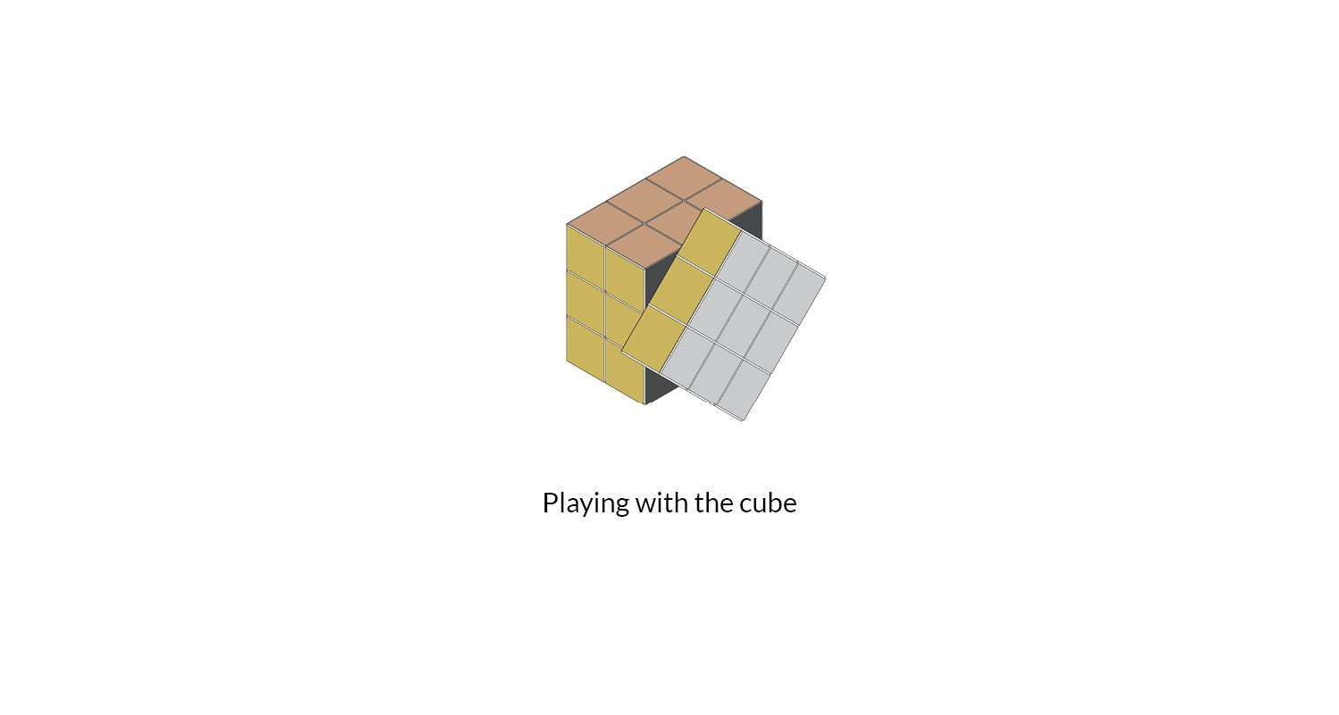 Playing with the cube AVA