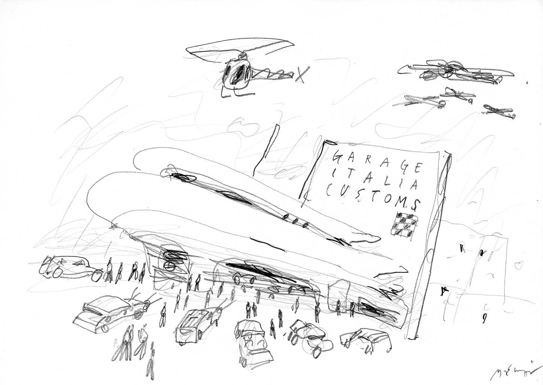 Sketches, pencil on paper Michele De Lucchi}