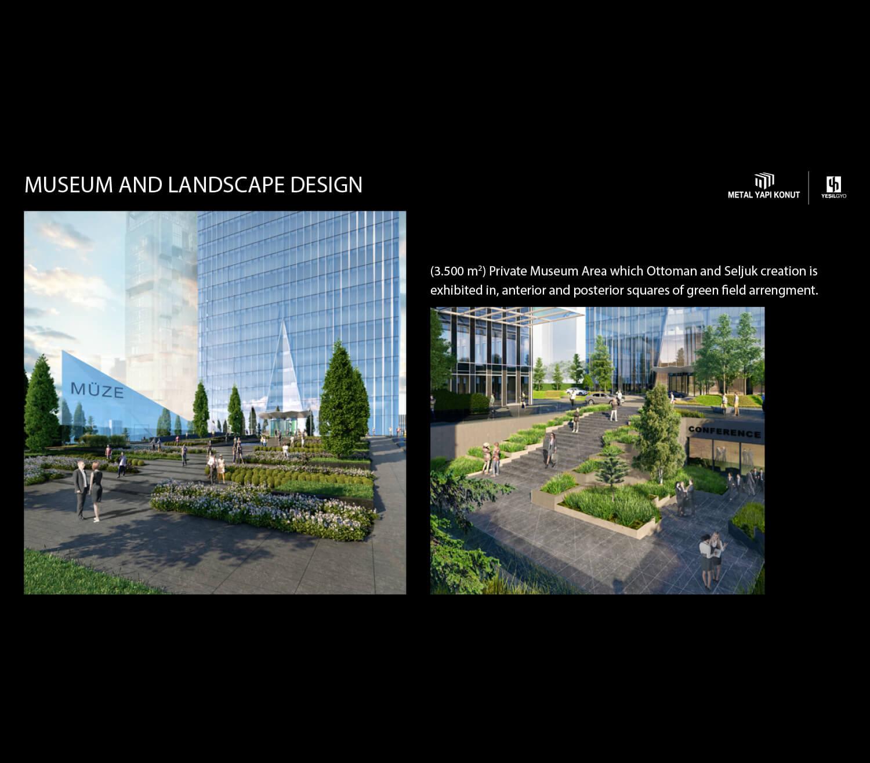 Museum and Landscape Design Metal Yapi Konut}