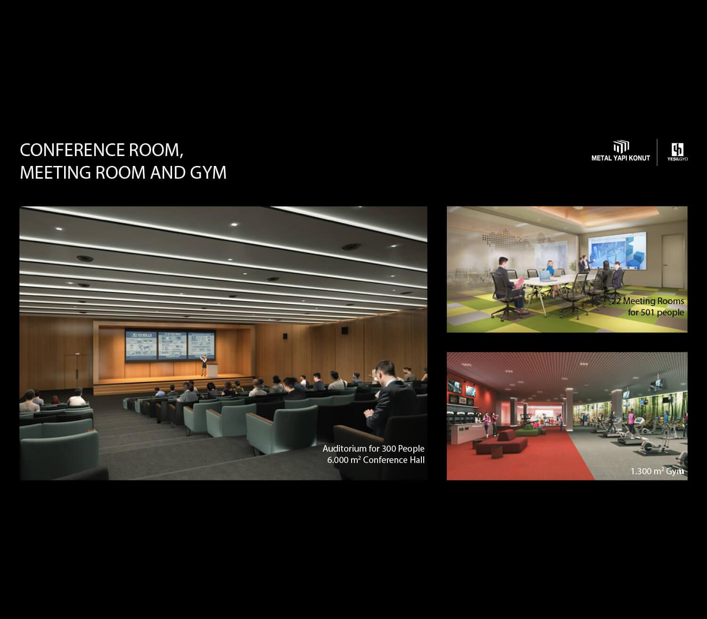 Conference Room, Meeting Room And Gym Metal Yapi Konut}