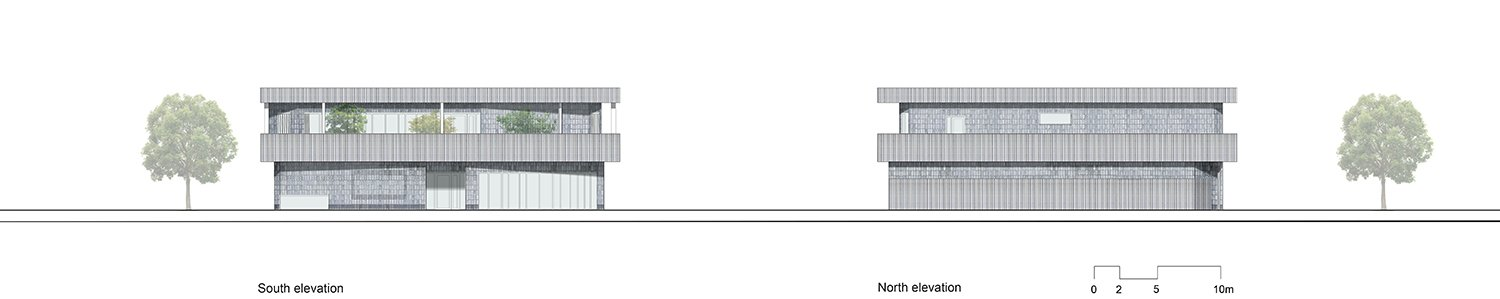 North and east elevation UArchitects}