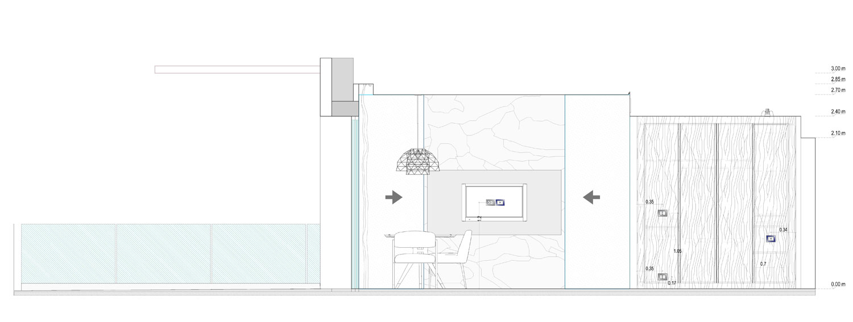 Prospetto-Sezione D Suite Room Studio KWG}