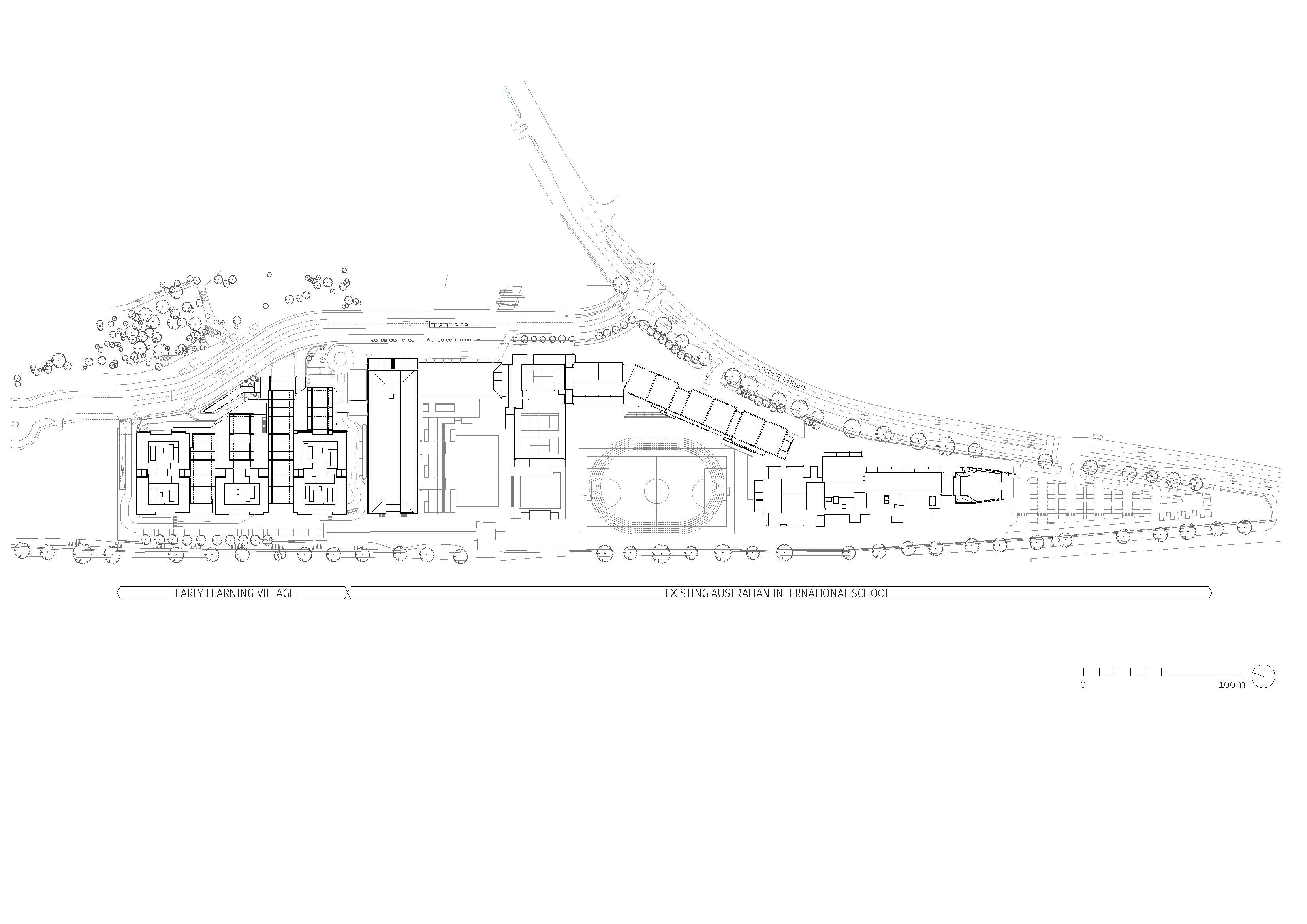 Site plan with annotation Bogle Architects}