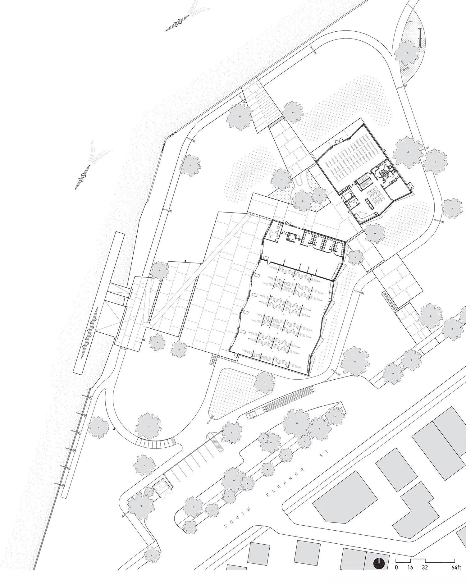 Eleanor Boathouse Ground Plan }