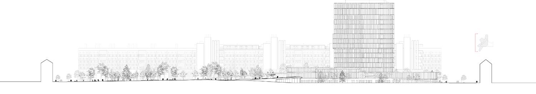 Elevation AA C.F. Møller Architects}