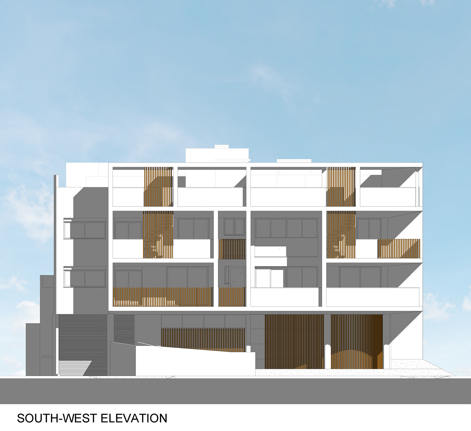 South-west Elevation }