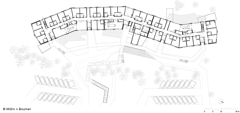 Floor plan - ground-floor  Möhn + Bouman}