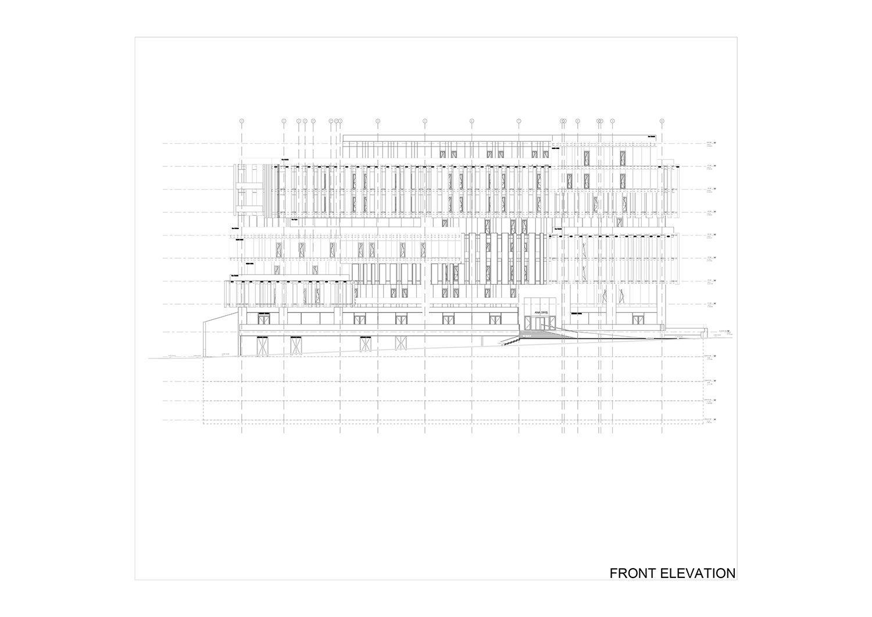 FRONT ELEVATION Studio Vertebra}