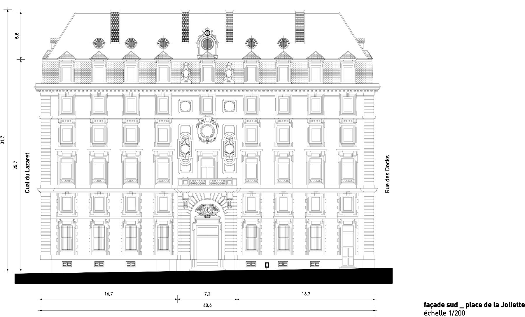 South façade }
