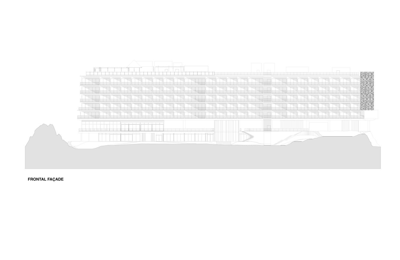 Frontal facade }